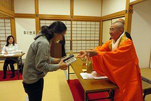 大本山知恩寺でのブック・ギフトin Kansaiの受賞者