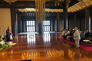 大本山増上寺でのブック・ギフトin Tokyoの授与式